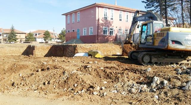 Sücüllü Şehit Süleyman Kalkan Ortaokulu'nun inşaatı başladı