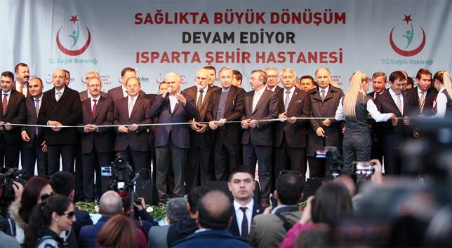 Isparta Şehir Hastanesi, başbakan tarafından açıldı