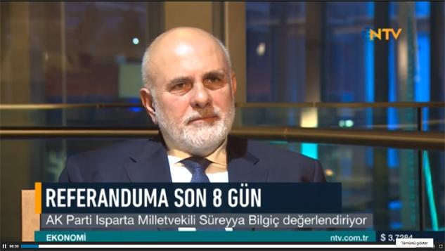 SÜREYYA BİLGİÇ BU KEZ DE NTV'DEN SESLENDİ