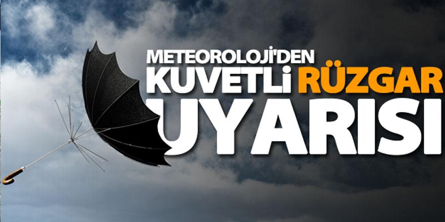 Meteoroloji'den çarşamba günü fırtına uyarısı