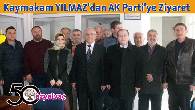 Yalvaç Kaymakamı Yılmaz Ak Parti Teşkilatını Ziyaret Etti