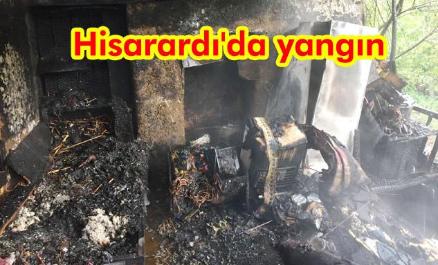 Yalvaç İtfaiyesi yanan evdeki yaşlı kadını kurtardı