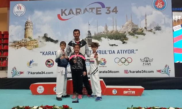 Karatedeki gururlarımız İstanbul'dan 2 madalyayla döndü