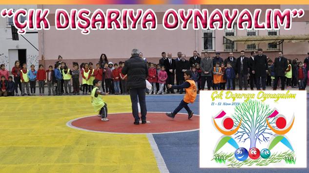 Gazipaşa İlkokulu Bahçesi Artık Rengarenk
