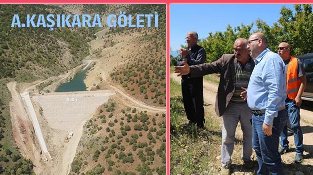DSİ Bölge Müdürü Berber'den Gölette İnceleme
