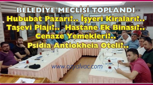 Yalvaç Belediye Meclisi Toplandı