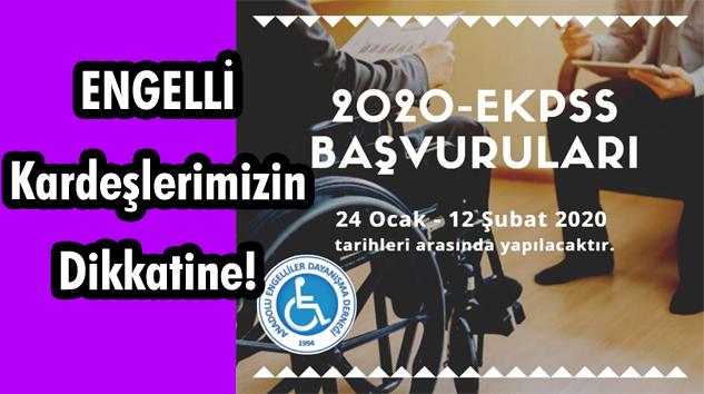 Anadolu Engelliler Dayanışma Derneği'nden 2020-EKPSS Başvuruları Duyurusu