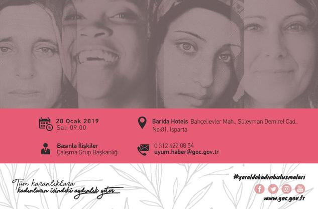 Yerelde Kadın Buluşmaları yarın Isparta'da