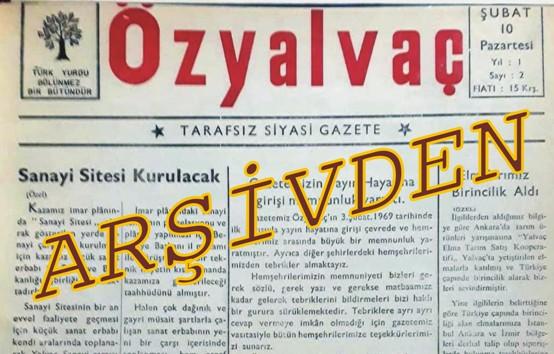 Özyalvaç Gazetesi Arşivinden (16 Mart 1970)
