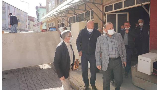 Ahmet Tural ve oda başkanlarından Terziler Sitesi'ne ziyaret