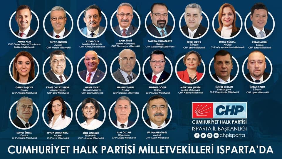 CHP'li milletvekilleri Isparta'yı karış karış gezecek