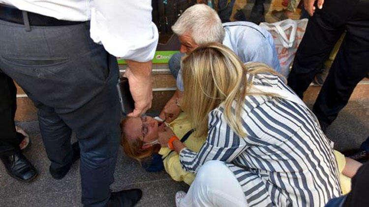 Aylin Cesur, nöbet geçiren kadının hayatını kurtardı