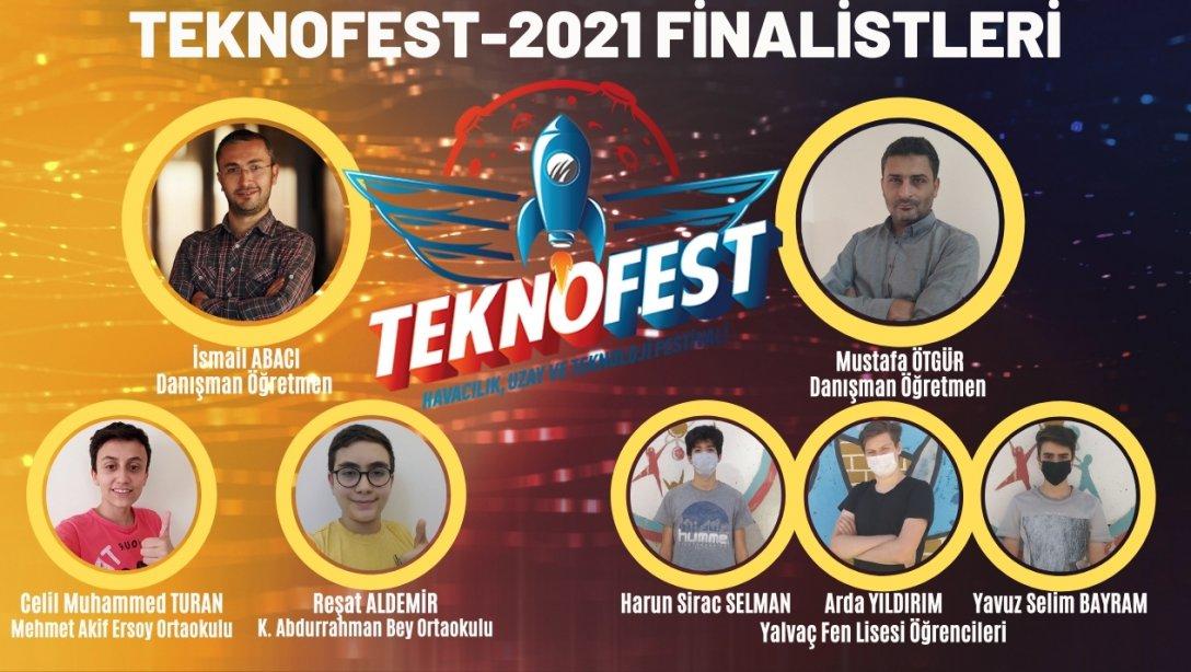 Yalvaç'tan 2 takımımız TEKNOFEST-2021 Finalisti oldu