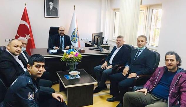 Eğitim-Bir-Sen'den Yeni Müdür Özher'e Ziyaret